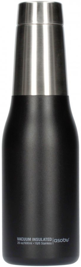 Asobu Oasis Water Bottle 600 ml, svart