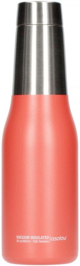 Asobu Oasis Water Bottle 600 ml, persika