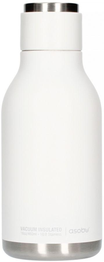 Asobu Urban Water Bottle dricksflaska i rostfritt stål 460 ml, vit