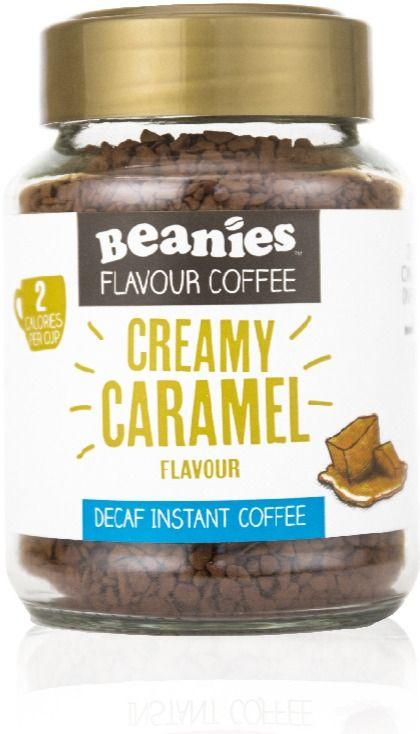 Beanies Decaf Creamy Caramel 50 g smaksatt snabbkaffe 50 g