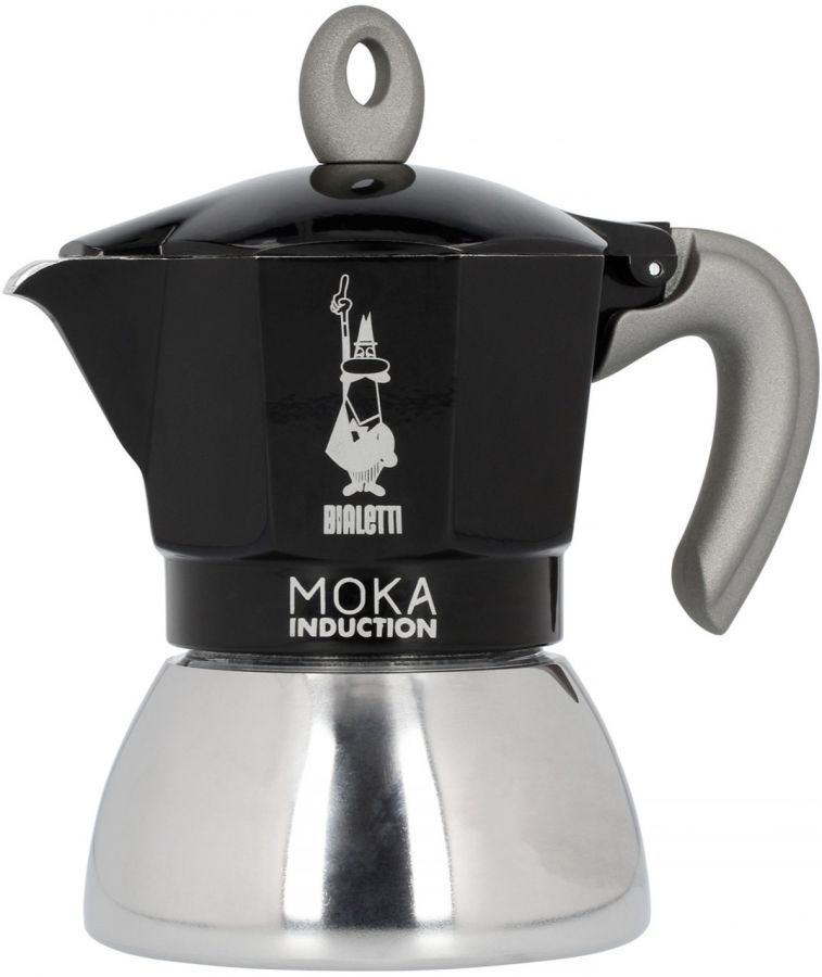Bialetti Moka Induction Black 4 koppars mokabryggare