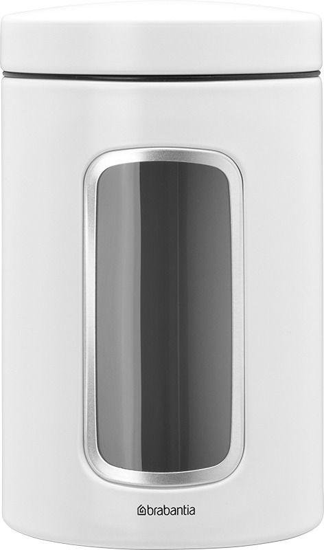 Brabantia förvaringsburk 1,4 l med fönster, vit