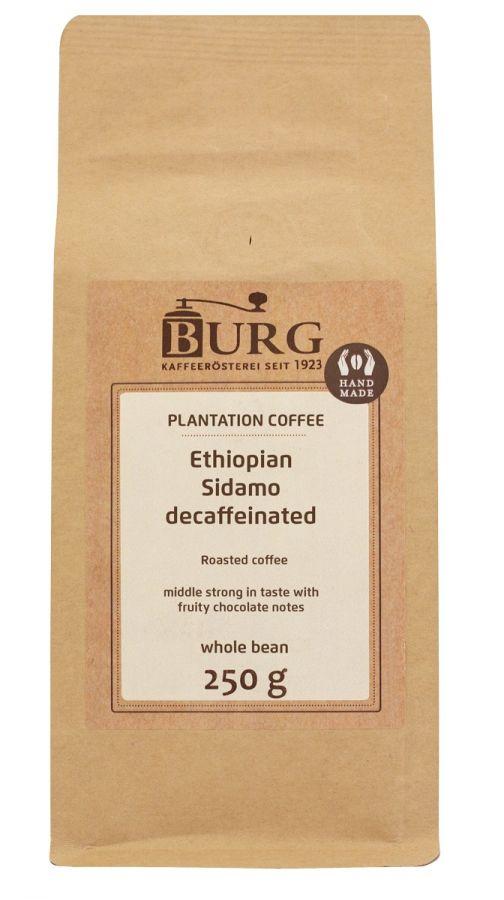 Burg Ethiopia Sidamo koffeinfritt kaffe 250 g kaffebönor