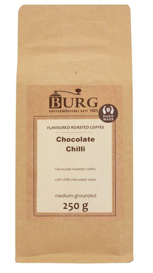 Burg smaksatt kaffe, choklad chili 250 g