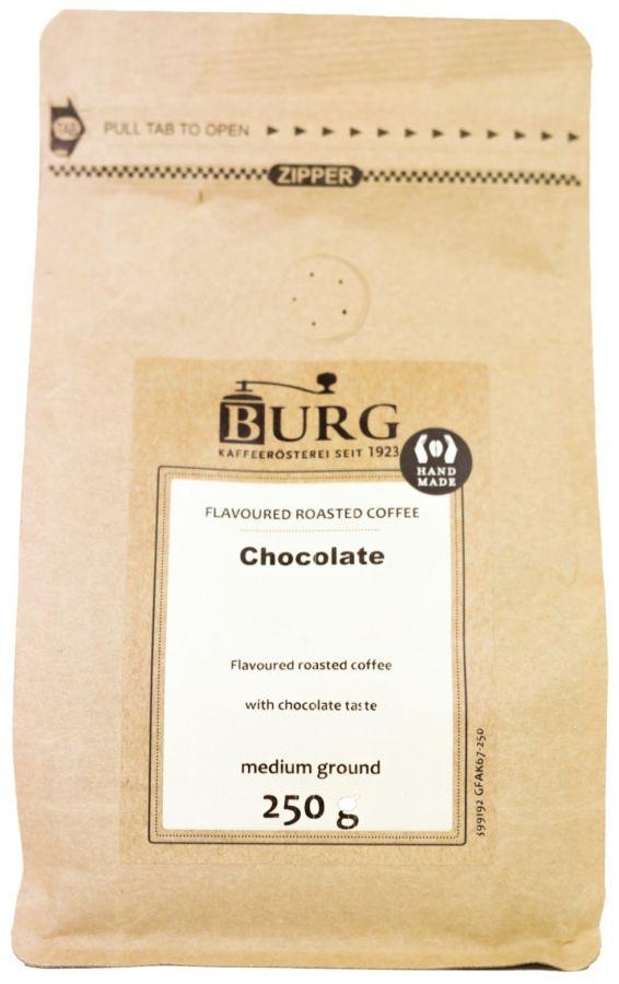 Burg smaksatt kaffe, choklad 250 g