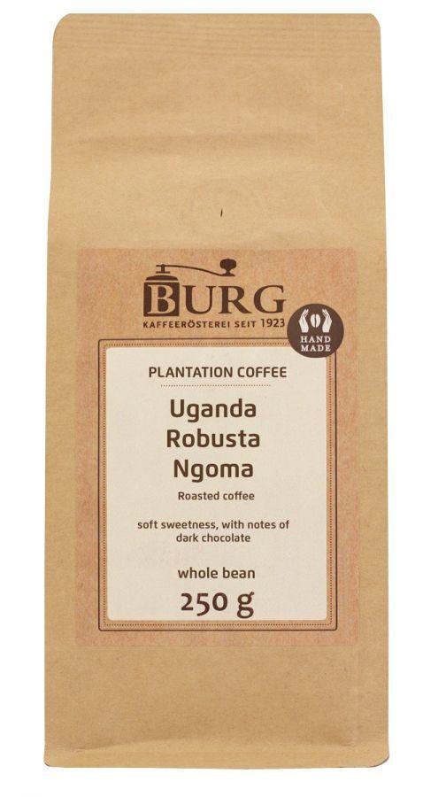 Burg Uganda Robusta Ngoma 250 g kaffebönor