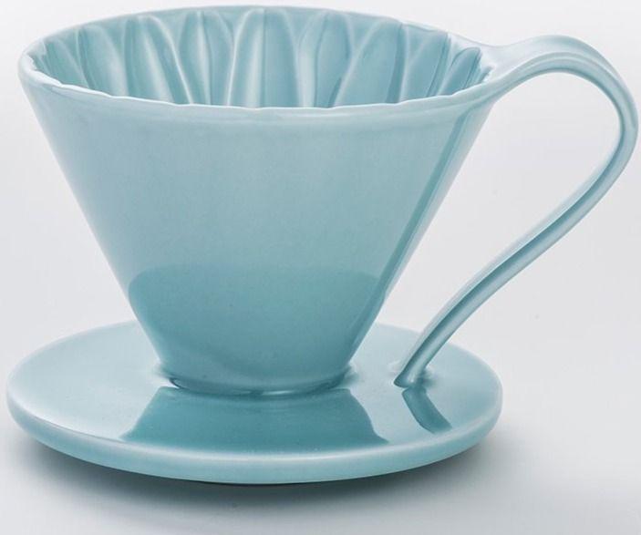 CAFEC Arita Ware Flower Dripper 1 kopp, blå