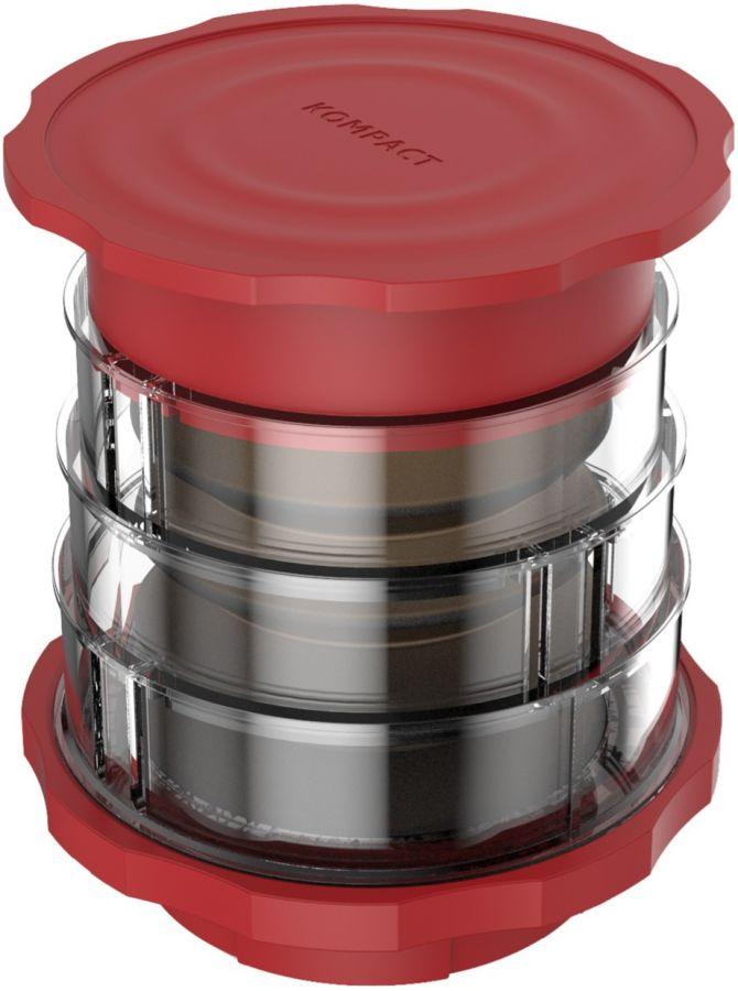 Cafflano Kompact Coffee Maker, röd