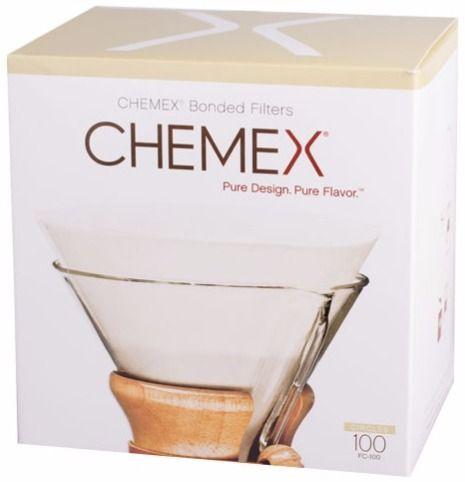 Chemex Pre-folded Circles runda kaffefilter till 6, 8 och 10 koppars kanna, 100 st.