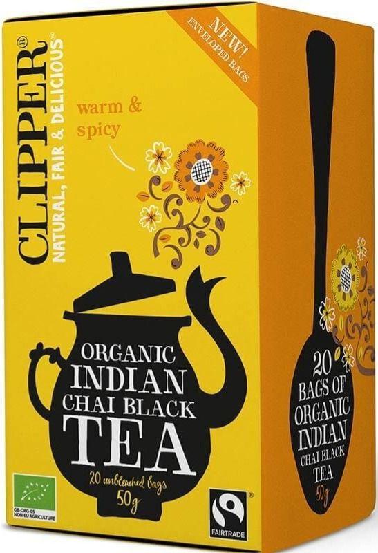 Clipper Organic Indian Chai Black Tea 20 tepåsar