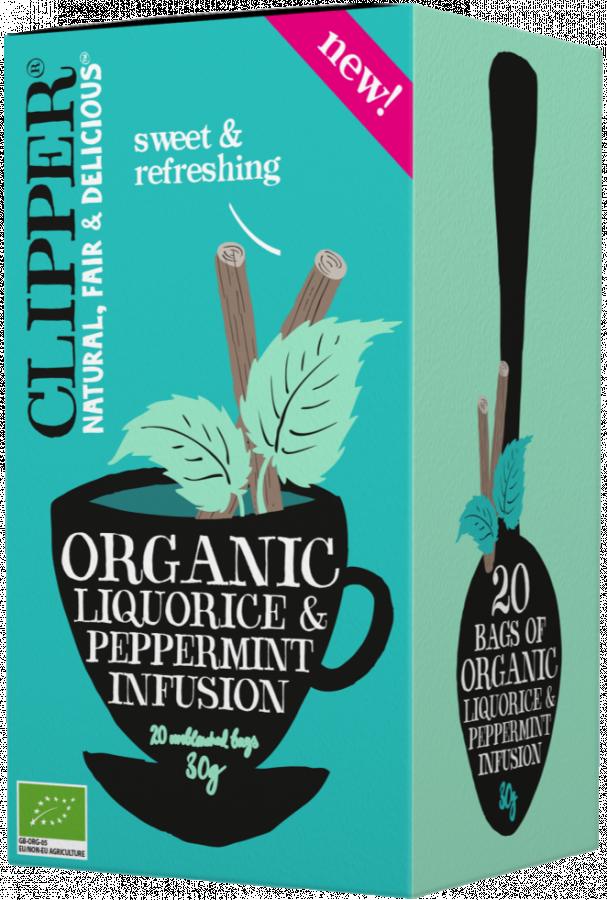 Clipper Organic Liquorice & Peppermint Infusion 20 påsar