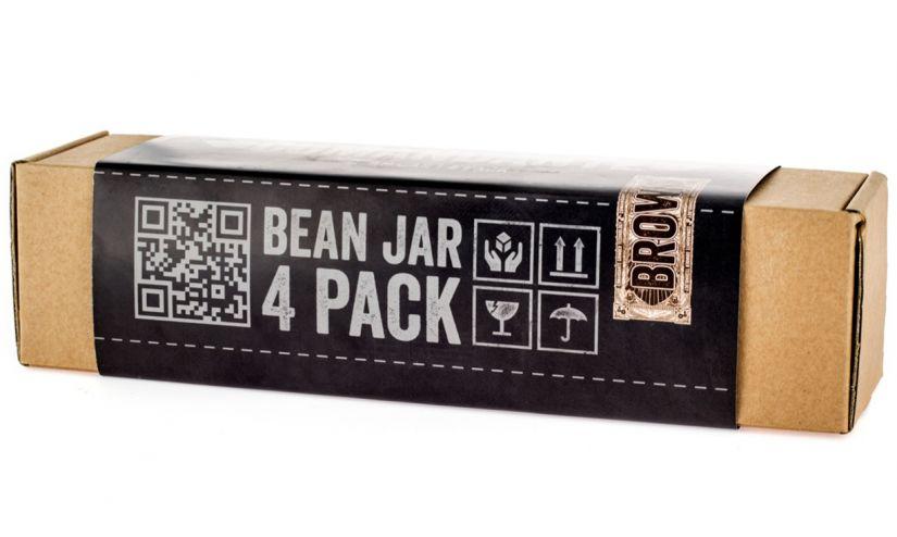 Comandante Bean Jar 4 Pack, brunt glas
