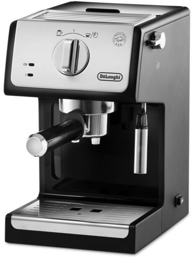 DeLonghi ECP33.21.BK espressomaskin, svart/silver