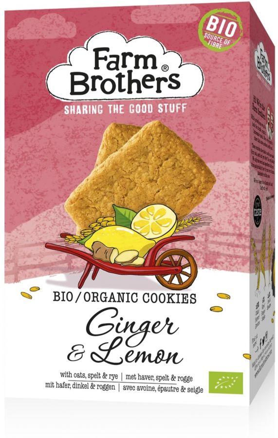 Farm Brothers ekologiska ingefära & citron cookie 150 g