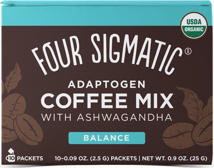 Four Sigmatic Adaptogen Coffee Mix With Ashwagandha, 10 portionspåsar