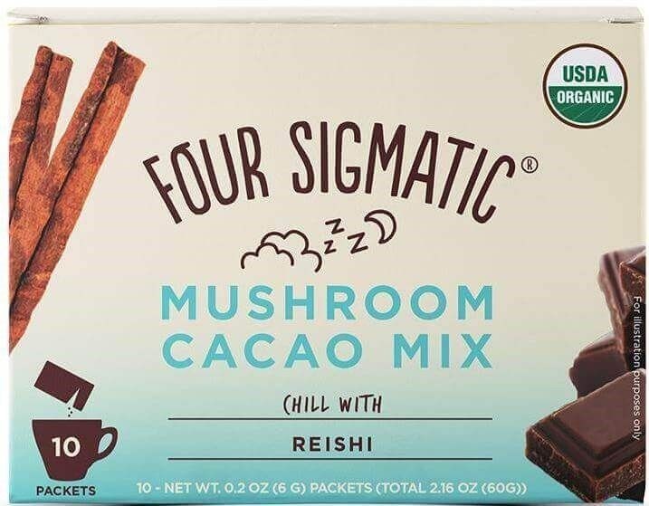 Four Sigmatic Mushroom Cacao Mix With Reishi, 10 portionspåsar