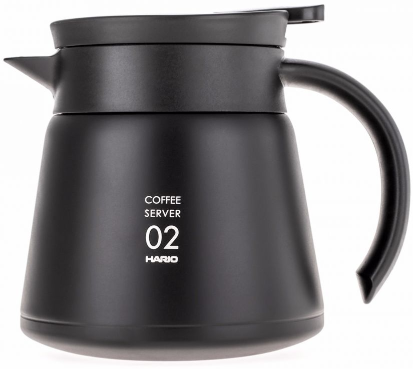 Hario V60 02 Insulated Stainless Steel Server 600 ml, svart
