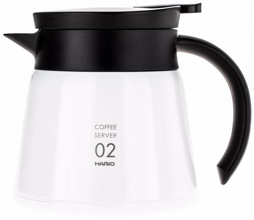 Hario V60 02 Insulated Stainless Steel Server 600 ml, vit