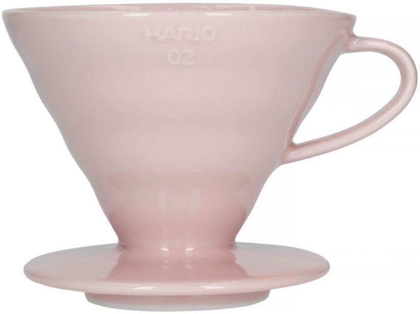 Hario V60 Dripper storlek 02 filterhållare i porslin, rosa