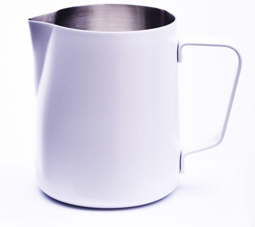 JoeFrex pulvermålad mjölkskumningskanna 590 ml, vit