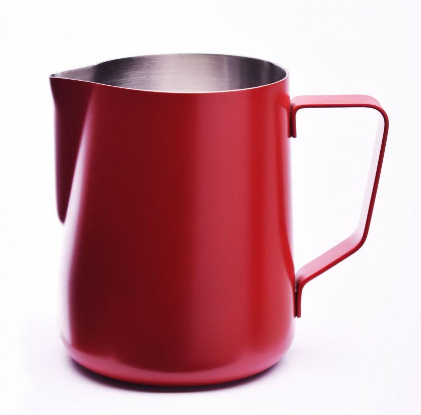 JoeFrex pulvermålad mjölkskumningskanna 350 ml, röd