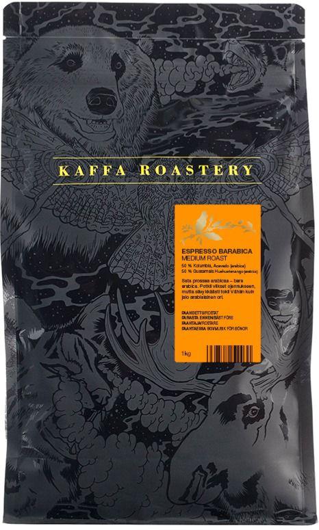 Kaffa Roastery Espresso Barabica 1 kg kaffebönor