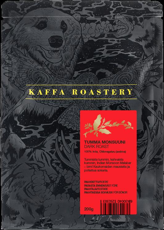 Kaffa Roastery Tumma Monsuuni 200 g kaffebönor