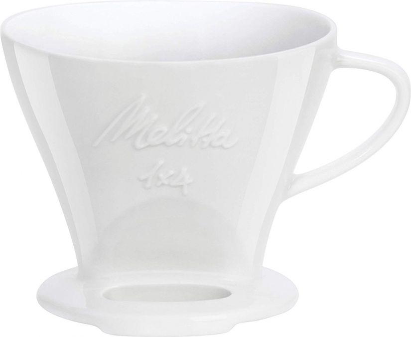 Melitta filterhållare i porslin 1x4, vit