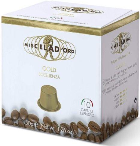 Miscela d'Oro Gold Nespresso-kompatibel kaffekapsel 10 st