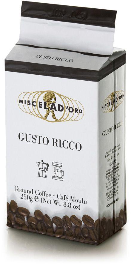 Miscela d'Oro Gusto Ricco 250 g malet kaffe