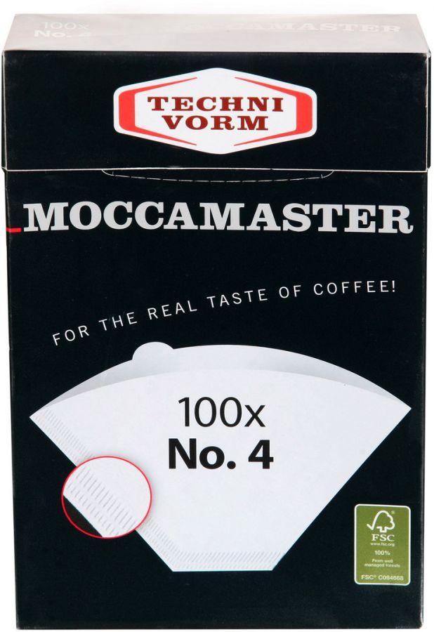 Moccamaster kaffefilter i syreblekt papper Nr. 4 100 st.