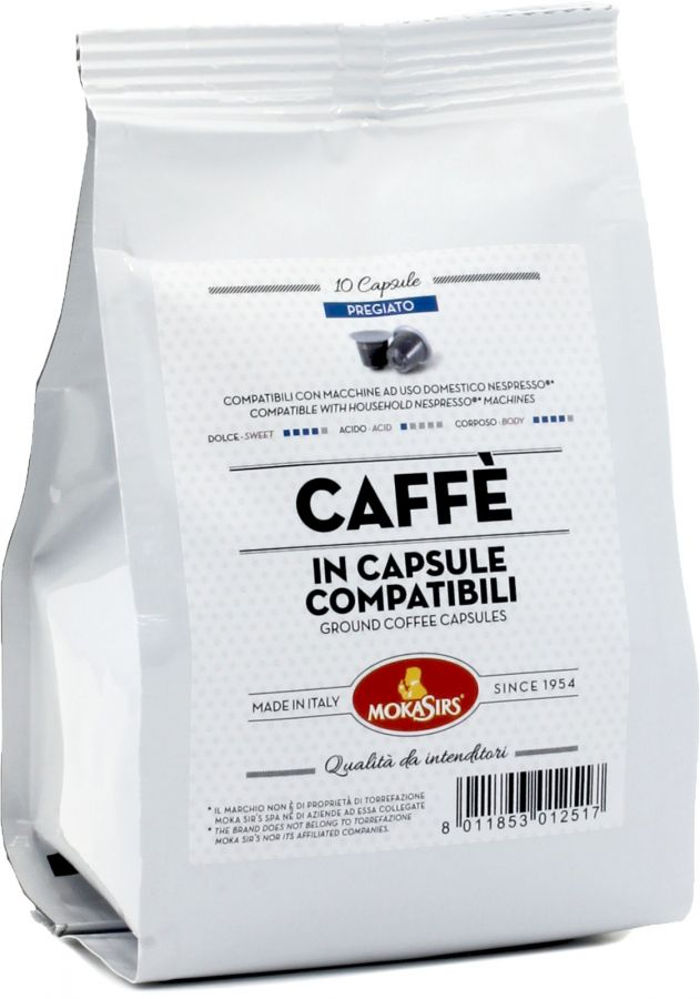 MokaSirs Pregiato Nespresso-kompatibel kaffekapsel 10 st