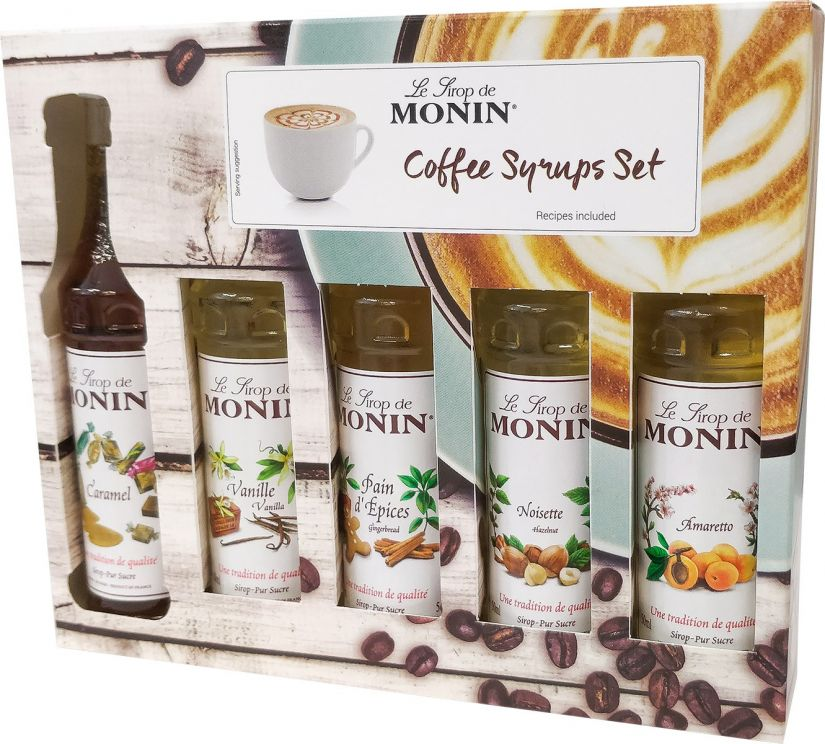 Monin Coffee Set 5 x 50 ml smaksirap