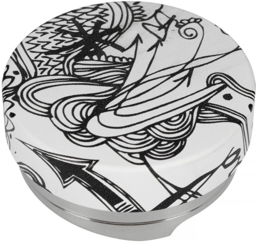 Motta Leveling Tool Black & White kaffeutjämnare, 58,5 mm