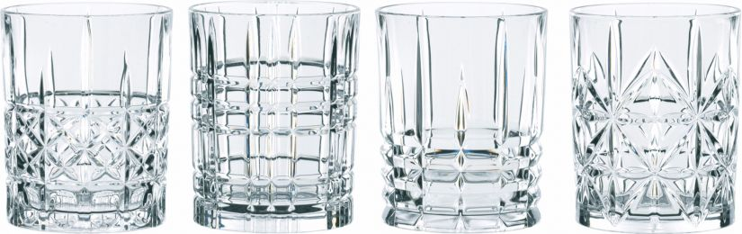Nachtmann Highland Tumbler drinkglasset med 4 olika mönster