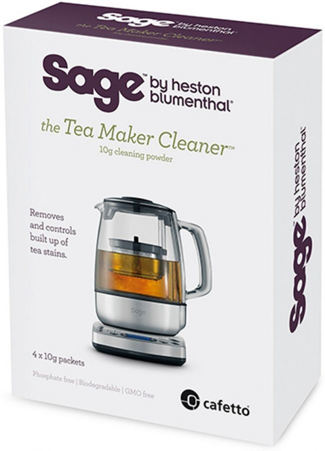 Sage Tea Maker Cleaner rengöringspulver för tekokare, 4 st