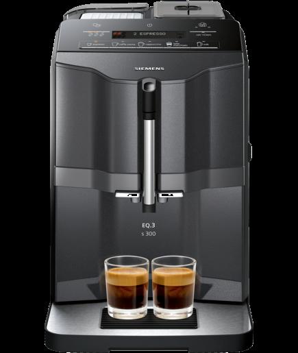Siemens EQ.3 Series 300 -kaffeautomat, svart