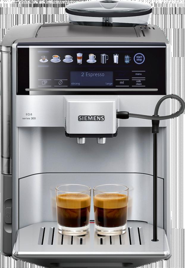 Siemens EQ.6 Series 300 -kaffeautomat, silver