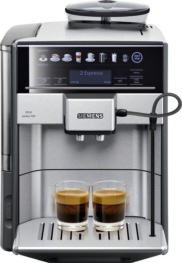 Siemens EQ.6 Series 700 -kaffeautomat, stål