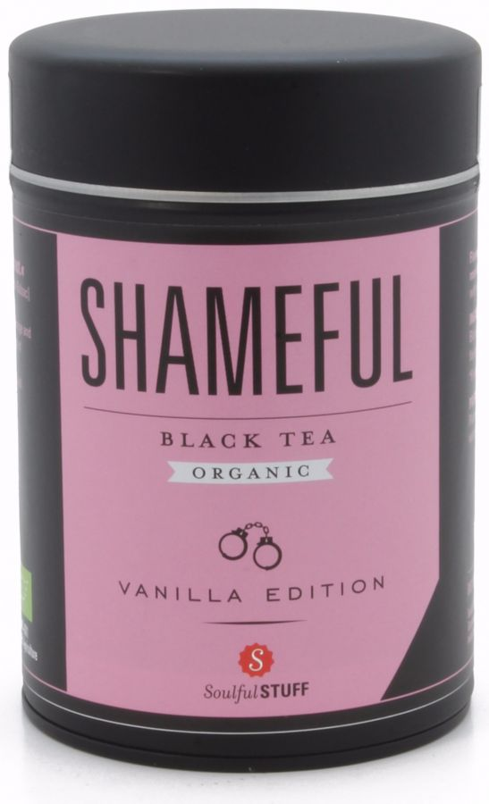 Soulful Stuff Shameful svart te, burk 120 g