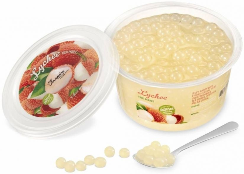 TIFC Boba Bubble Tea bubbelte-pärlor, Lychee 450 g