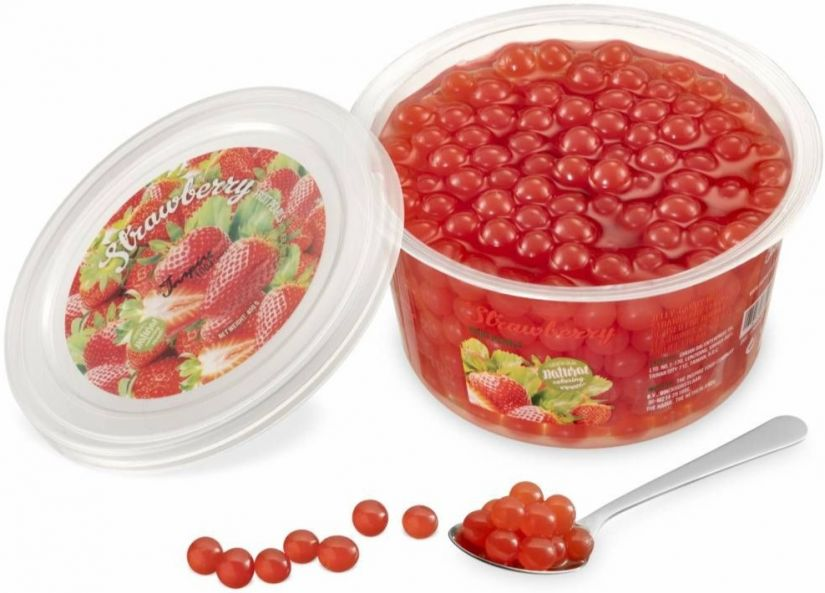 TIFC Boba Bubble Tea bubbelte-pärlor, Strawberry 450 g