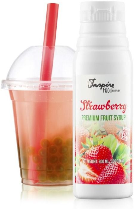 TIFC  Bubble Tea Syrup Strawberry 300 ml