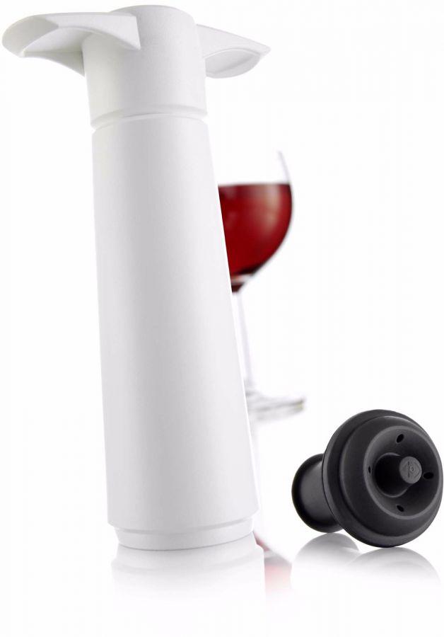 Vacu Vin Wine Saver vakuumpump med stopper, vit