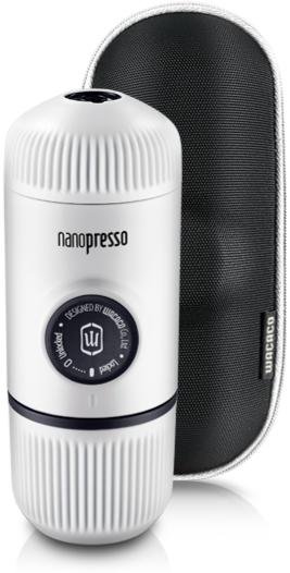 Wacaco Nanopresso Elements Chill White - bärbar espressobryggare + skyddsfodral