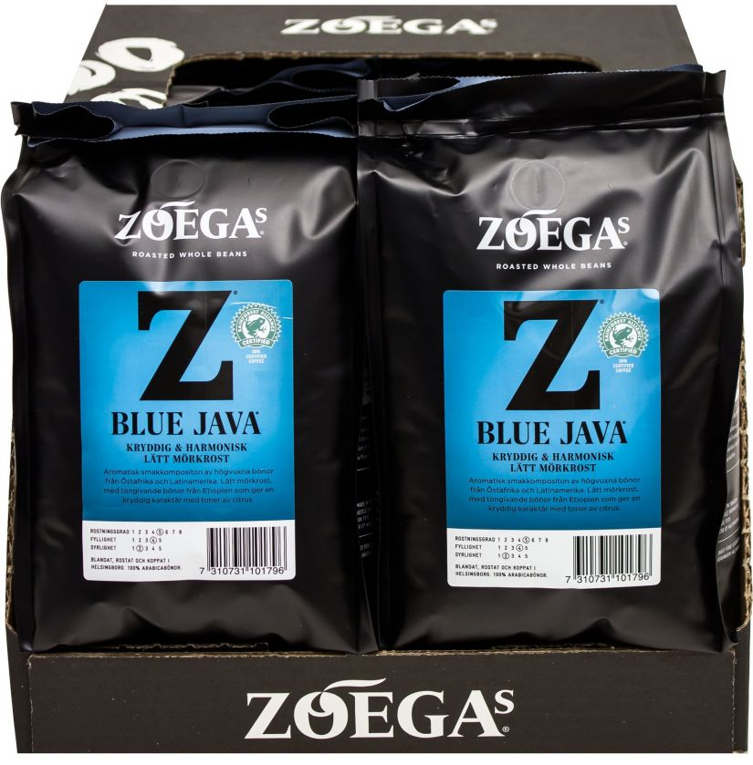 Zoégas Blue Java 8 x 450 g kaffebönor grossistförpackning