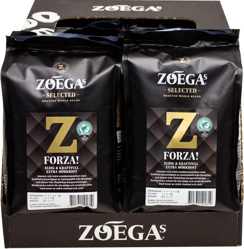 Zoégas Forza! 8 x 450 g kaffebönor grossistförpackning
