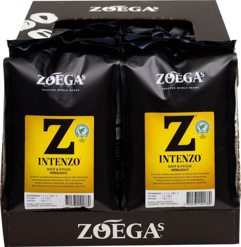 Zoégas Intenzo 8 x 450 g kaffebönor grossistförpackning