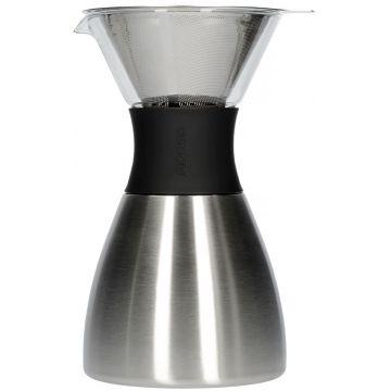 Asobu PourOver-PO300 Insulated Coffee Maker, silver/svart