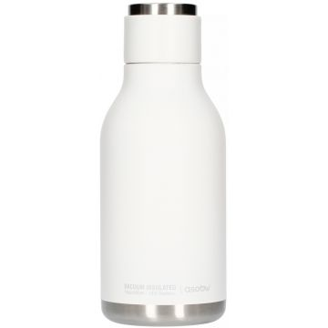 Asobu Urban Water Bottle dricksflaska i rostfritt stål 460 ml, vit